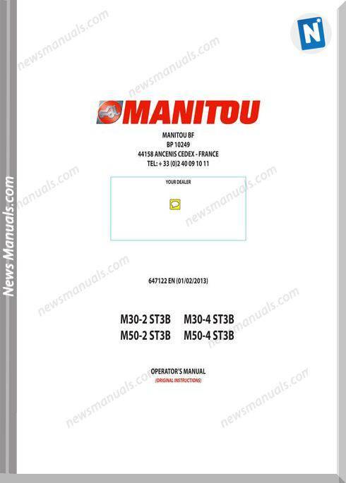 Manitou M30-2,M30-4,M50-2,M50-4-647122 Operation Manual