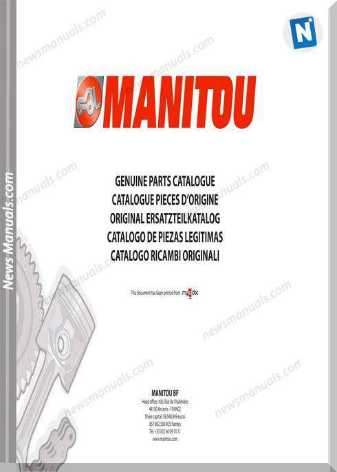 Manitou Mlt 731 Models Turbo A Sd E3 Parts Catalogue