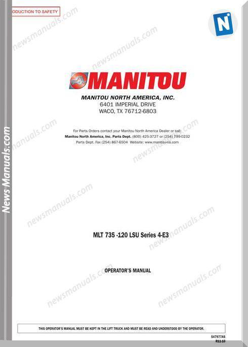 Manitou Mlt735-120-547977Asd-Rev.11-10 Operator Manuals
