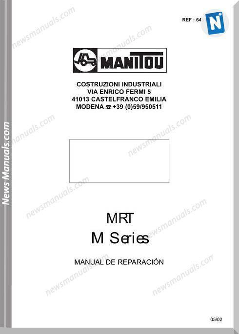 Manitou Mrt M Series Repair Manual