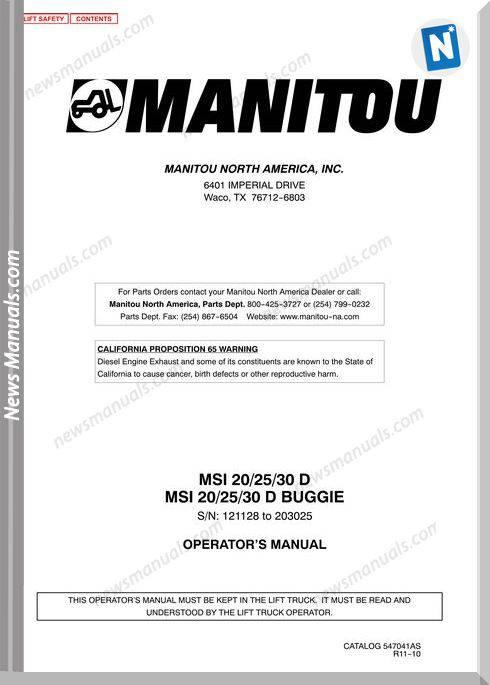 Manitou Msi30D 121128 203025 547041Asd Operation Manual