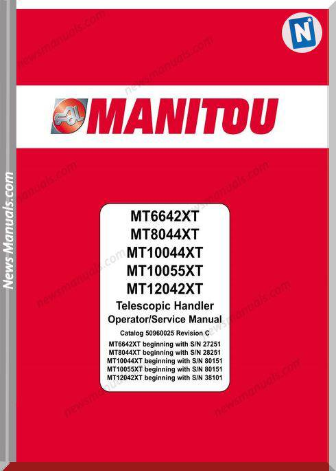 Manitou Mt6642Xt-Sn 27251,Mt8044Xt Operation Manual
