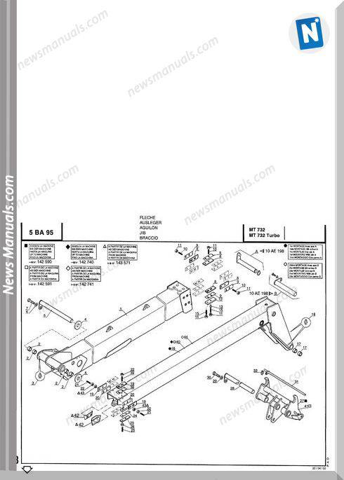 Manitou Mt732,Mt732 Turbo Parts Manuals