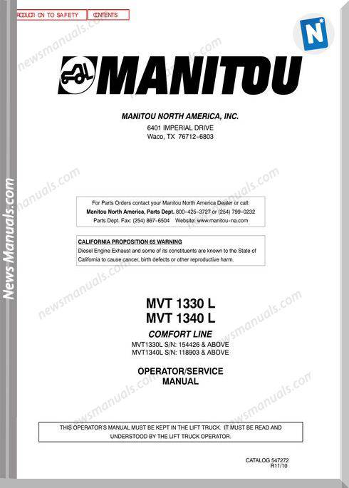 Manitou Mvt1340-547272D-Rev11-10 Operator Manuals