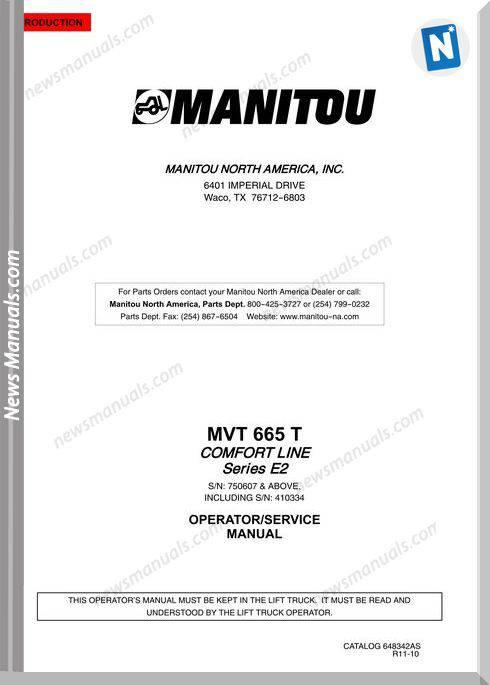 Manitou Mvt665-648342Asd Rev11-10 Operator Manuals