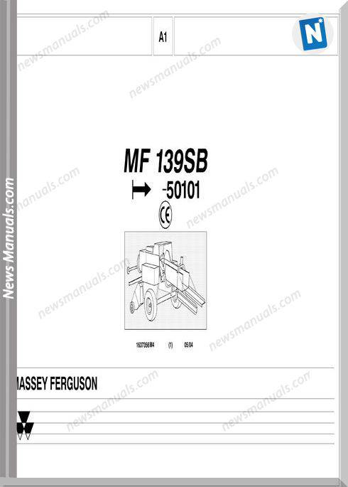 Massey Ferguson Mf 139Sb Part Catalogue