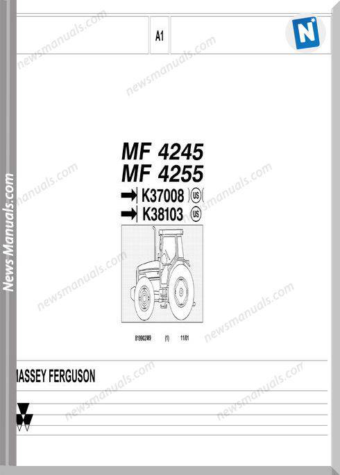 Massey Ferguson Mf 4245 4255 2 Part Catalogue