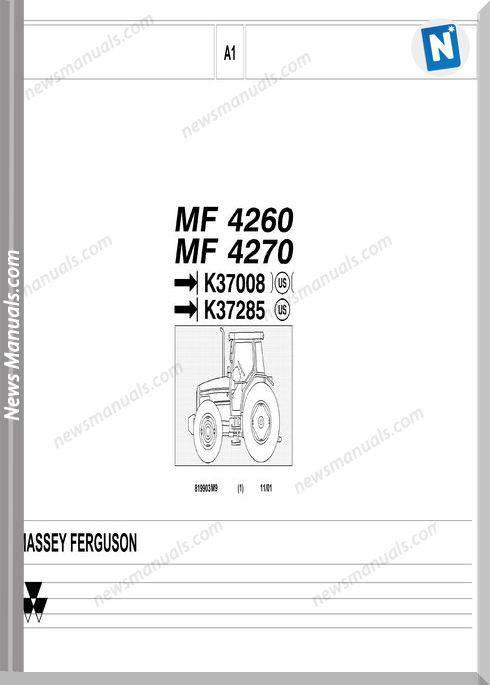 Massey Ferguson Mf 4260 4270 2 Part Catalogue