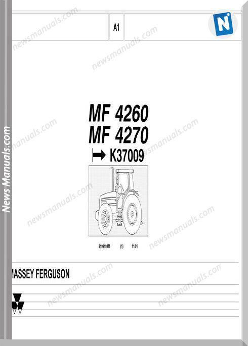 Massey Ferguson Mf 4260 4270 Part Catalogue