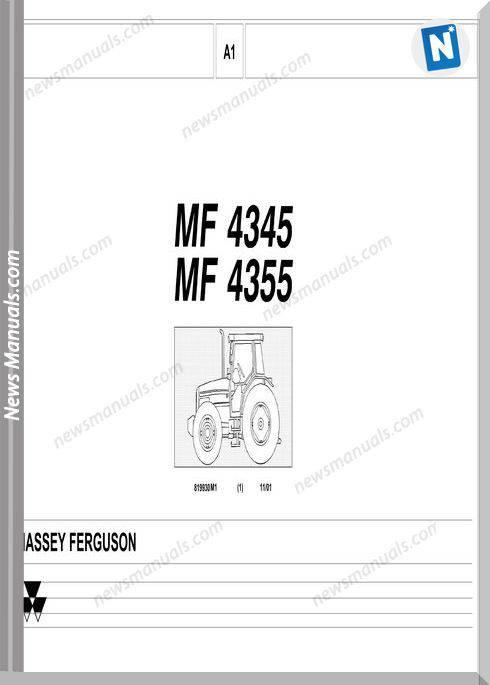 Massey Ferguson Mf 4345 4355 Tractor Part Catalogue