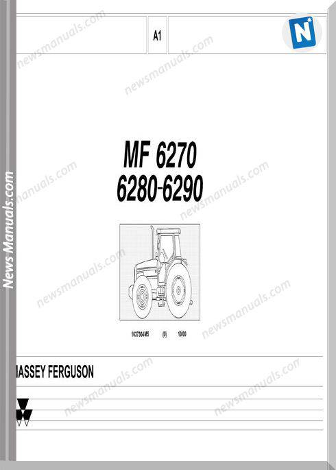 Massey Ferguson Mf 6270 6280 6290 Part Catalogue