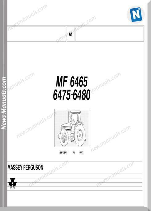 Massey Ferguson Mf 6465 6475 6480 Part Catalogue