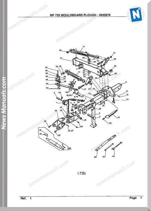 Massey Ferguson Mf 725 Tractor Part Catalogue