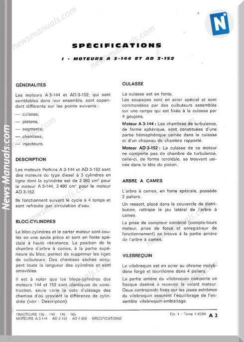 Massey Ferguson Mf135 140 145 165 Workshop Manual