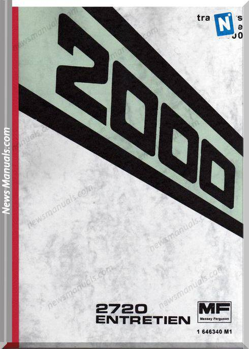 Massey Ferguson Mf2720 Serie 2000 Operation Manual