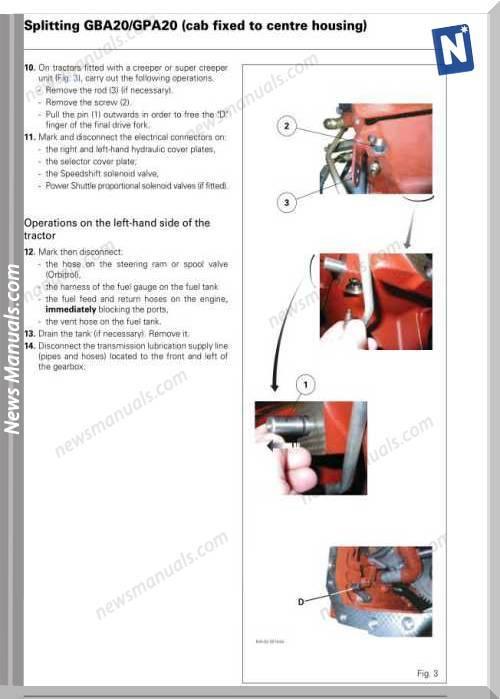 Massey Ferguson Mf5400 Tractor Workshop Manual