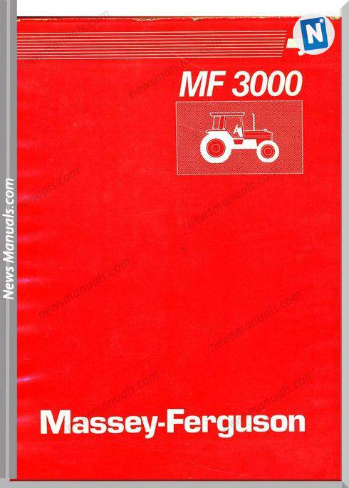 Massey Ferguson Tractor Mf3000 Serie Workshop Manual