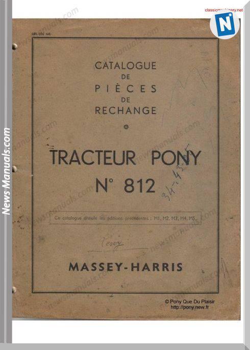 Massey Harris Pony 812 Parts Manual