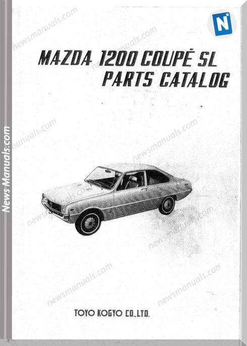 Mazda 1200 Couple Familia Parts Catalog