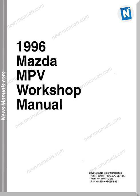 Mazda 1996 Mpv Workshop Manual