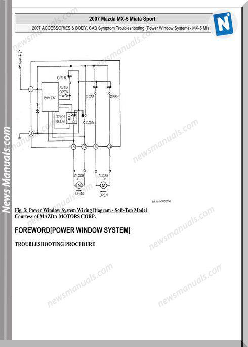 Mazda Mx 5 Miata Sport 2007 Wiring Diagram