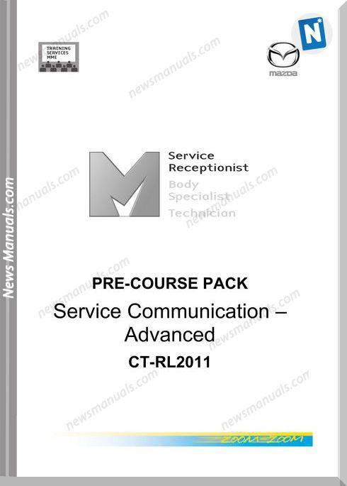Mazda Pre Course Pack Service Communication Advanced Ct Rl2011