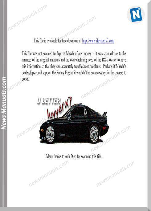 Mazda Rx 7 3 Engine Repair Manual