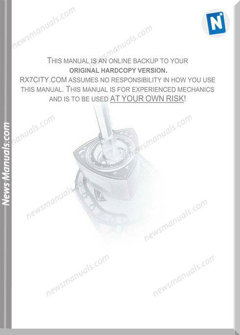 Mazda Rx 7 Turbo Rotary Engine Service Manual