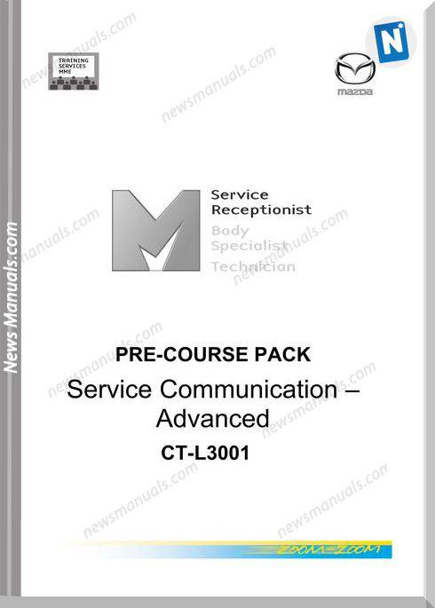 Mazda Training Manual Pre Course Pack Service Communication Advanced