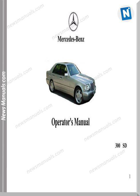 Mercedes Benz 300Sd 1993 Operators Manual