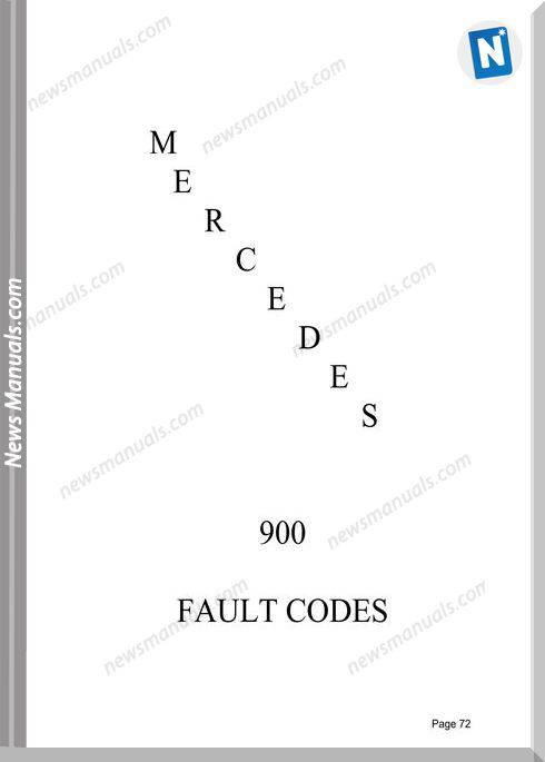 Mercedes Br900 All List Fault Codes Manuals
