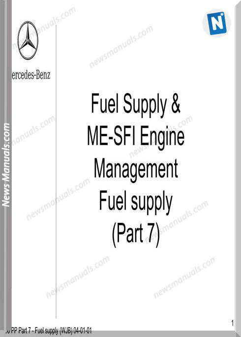 Mercedes Technical Training Ho Part 07 Fuel Supply Wjb