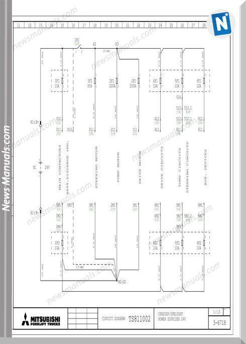 Mitsubishi Forklift Elschema Obp10Spf Service Manual