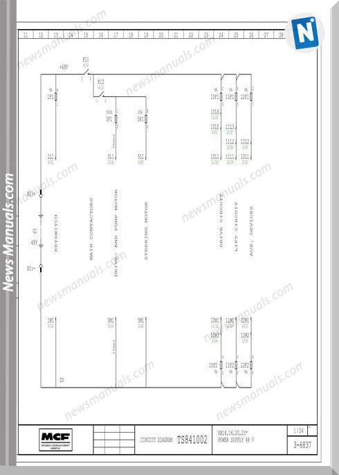 Mitsubishi Forklift Rb14 16 20 25 Ts841002 Wiri Diagram