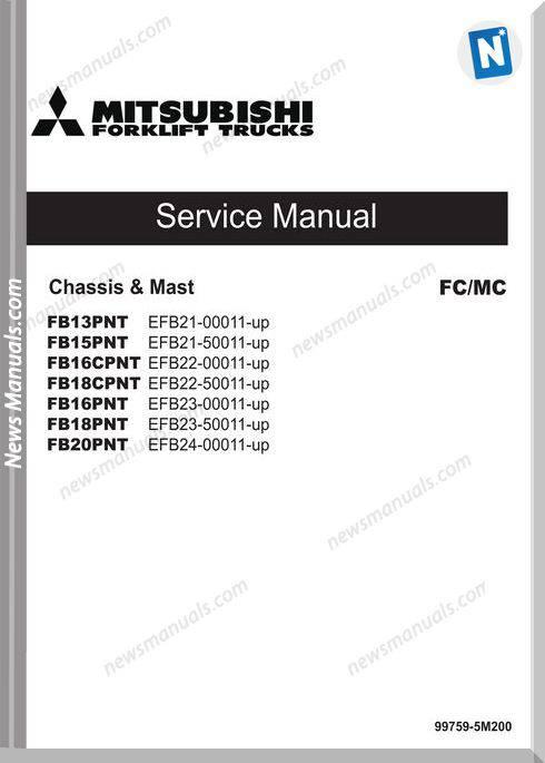 Mitsubishi Forklift Trucks 99759-5M200 Service Manual