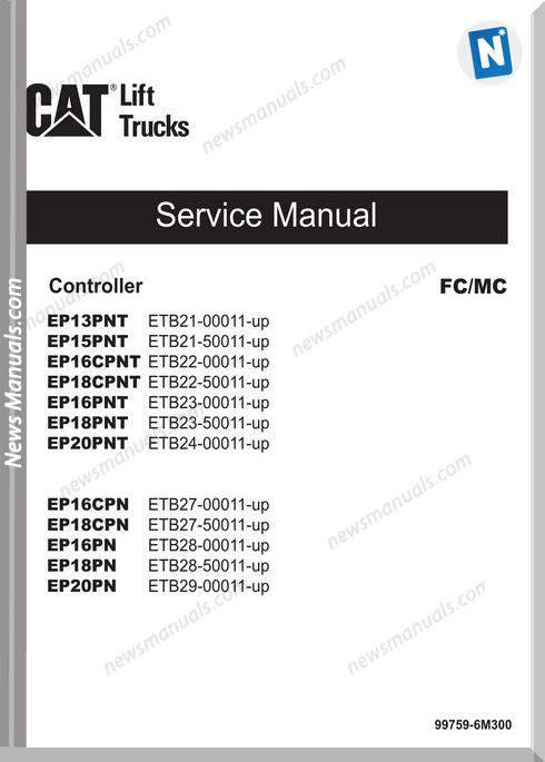 Mitsubishi Forklift Trucks 99759-6M300 Service Manual