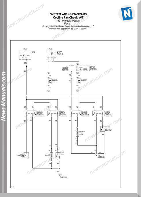 Mitsubishi Galant 1991 Wiring Diagrams