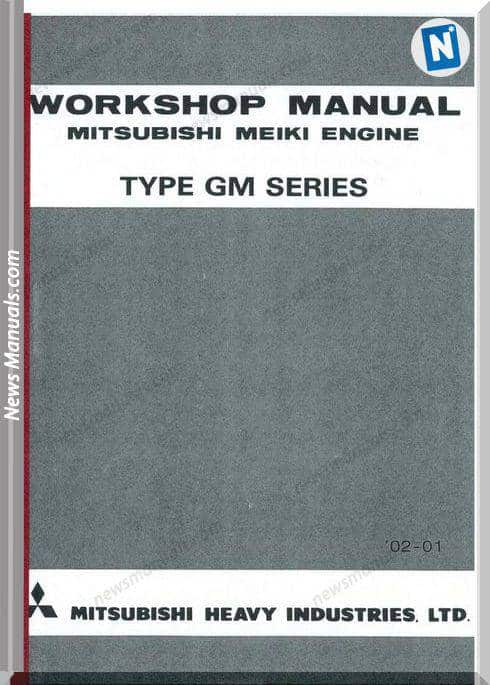 Mitsubishi Gm Series Workshop Manual
