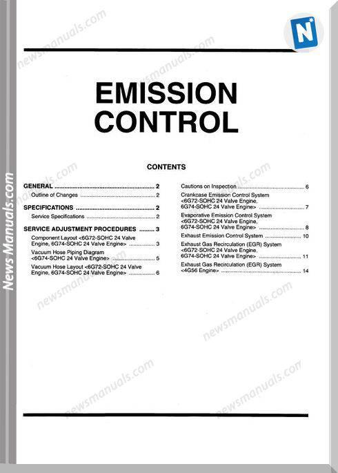 Mitsubishi Pajero 1991 1999 Engine Service Procedure