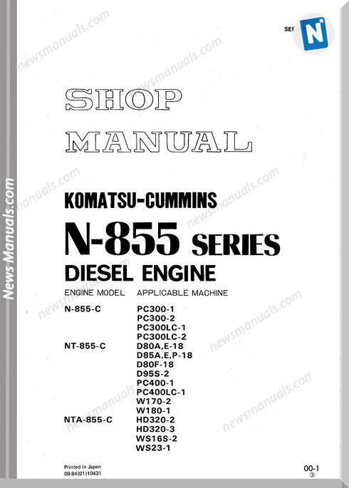 N855 Cummins Engine Shop Manual
