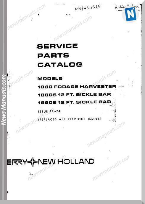 New Holland 1880 Part Catalogue