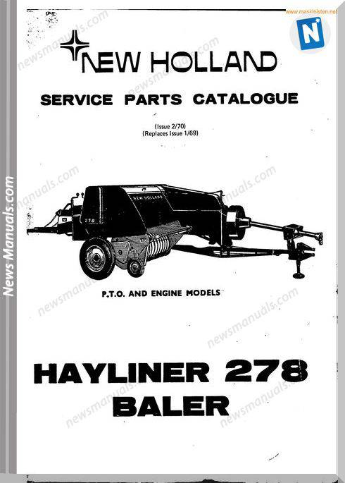 New Holland 278 Small Baler Parts Sec Wat