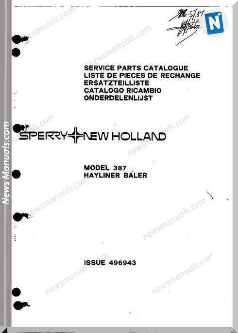 New Holland 387 Part Catalogue