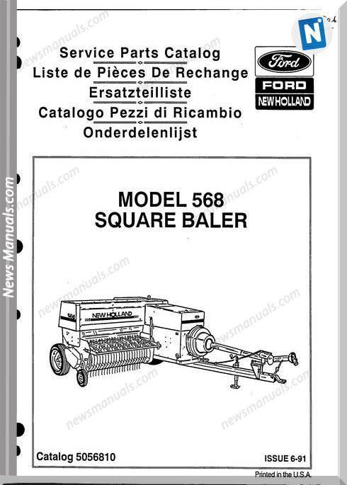 New Holland 568 Part Catalogue