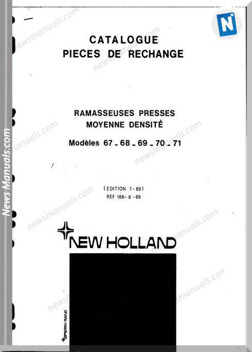 New Holland 67 68 69 70 71 Part Catalogue