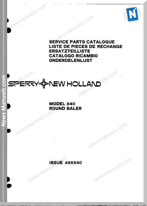 New Holland 840 Part Catalogue