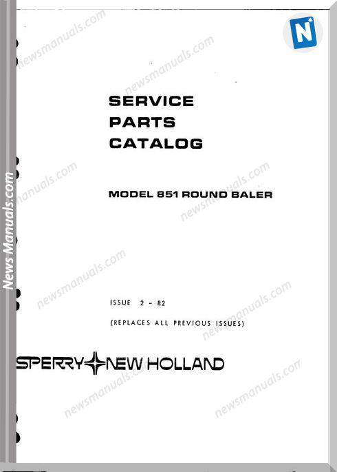 New Holland 851 Part Catalogue
