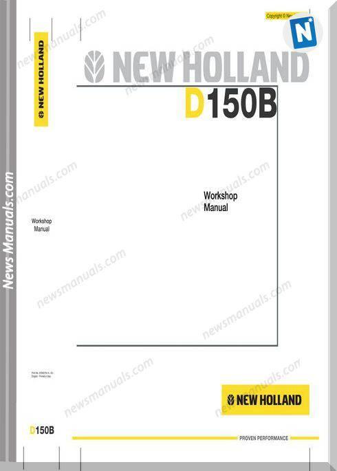 New Holland Crawler Dozer D150B En Service Manual