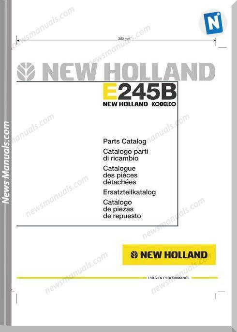 New Holland Crawler Excavator E245B Parts Catalogue