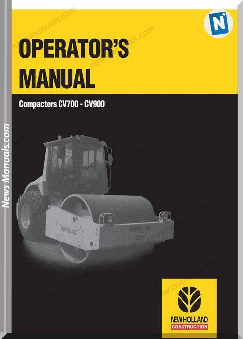 New Holland Cv700 Cv900 Compactors Operator Manual